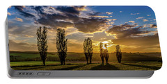 Dutch Moutains At Sunset Portable Battery Charger