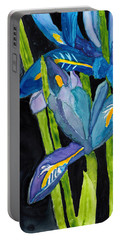 Dwarf Iris Watercolor On Yupo Portable Battery Charger