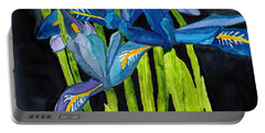 Dwarf Iris Watercolor On Yupo Portable Battery Charger