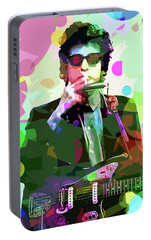 Dylan In Studio Portable Battery Charger by David Lloyd Glover
