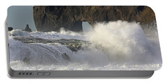 Dyrholaey Arch From Reynisfjara Beach 6858 Portable Battery Charger