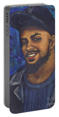 Portable Battery Charger featuring the painting E by Alga Washington