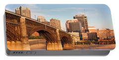 Eads Bridge At St Louis Portable Battery Charger by Semmick Photo