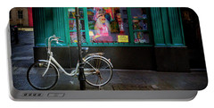 Portable Battery Charger featuring the photograph Eager Beaver Bicycle by Craig J Satterlee