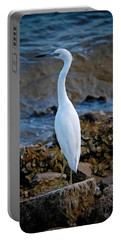 Eager Egret Portable Battery Charger by DigiArt Diaries by Vicky B Fuller