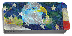 Portable Battery Charger featuring the digital art Eagle Americana by David Lee Thompson