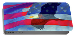 Eagle And Us Flag Portable Battery Charger