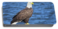 Portable Battery Charger featuring the photograph Eagle At East Point  by Nancy Patterson