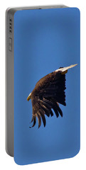 Portable Battery Charger featuring the photograph Eagle Dive by Linda Unger