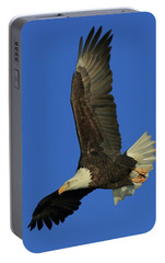 Portable Battery Charger featuring the photograph Eagle Diving by Coby Cooper