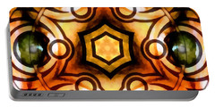 Portable Battery Charger featuring the digital art Eagle Eye Ray by Derek Gedney