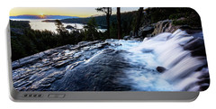 Portable Battery Charger featuring the photograph Eagle Falls At Emerald Bay by John Hight