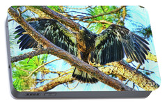Portable Battery Charger featuring the photograph Eagle Fledgling II 2017 by Deborah Benoit