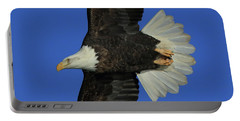 Eagle Flying Closeup Portable Battery Charger by Coby Cooper