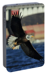 Portable Battery Charger featuring the photograph Eagle Flying by Coby Cooper