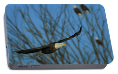 Portable Battery Charger featuring the photograph Eagle Gang by Coby Cooper