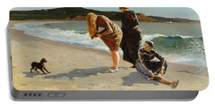 Portable Battery Charger featuring the painting Eagle Head, Manchester, Massachusetts - 1870 by Winslow Homer
