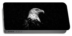 Eagle In Black And White Portable Battery Charger
