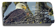 Portable Battery Charger featuring the photograph Eagle In Nest by Rod Wiens