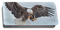 Eagle In The Clouds Portable Battery Charger by CR Courson