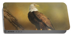 Eagle In The Fog Portable Battery Charger