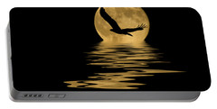 Eagle In The Moonlight Portable Battery Charger