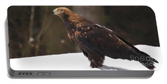 Eagle In The Snow Portable Battery Charger
