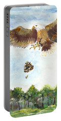 Portable Battery Charger featuring the painting Eagle by Karen Ferrand Carroll