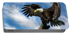 Eagle Landing On A Branch Portable Battery Charger