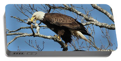 Eagle Nest Building Portable Battery Charger by TnBackroadsPhotos