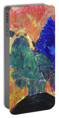 Portable Battery Charger featuring the painting Standing Outside The Fire by Donald J Ryker III