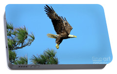 Portable Battery Charger featuring the photograph Eagle Series 1 2017 by Deborah Benoit