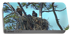 Portable Battery Charger featuring the photograph Eagle Series Baby by Deborah Benoit