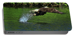 Portable Battery Charger featuring the photograph Eagle Series Fish Catch by Deborah Benoit