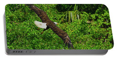 Portable Battery Charger featuring the photograph Eagle Series Flight by Deborah Benoit