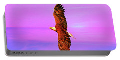 Portable Battery Charger featuring the painting Eagle Series Painterly by Deborah Benoit