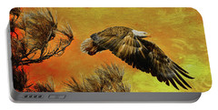 Portable Battery Charger featuring the painting Eagle Series Strength by Deborah Benoit