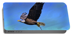 Portable Battery Charger featuring the photograph Eagle Series Success by Deborah Benoit