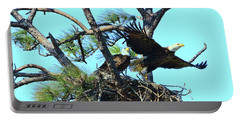 Portable Battery Charger featuring the photograph Eagle Series The Nest by Deborah Benoit