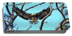 Portable Battery Charger featuring the photograph Eagle Series Wings by Deborah Benoit