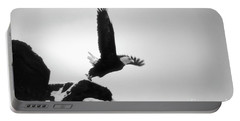 Eagle Takeoff At Adak, Alaska Portable Battery Charger