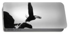 Eagle Takeoff At Adak, Alaska Portable Battery Charger