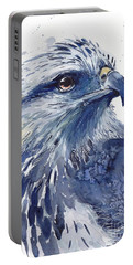 Eagle Watercolor Portable Battery Charger