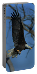 Eagle With Fish Portable Battery Charger by Coby Cooper