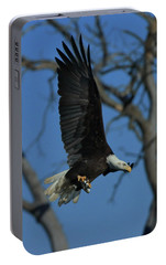 Portable Battery Charger featuring the photograph Eagle With Fish by Coby Cooper