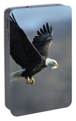 Portable Battery Charger featuring the photograph Eagle With Small Fish by Coby Cooper