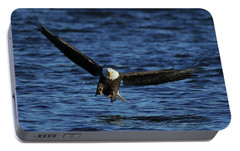 Portable Battery Charger featuring the photograph Eagle With Talons Up by Coby Cooper