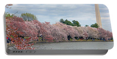 Early Arrival Of The Japanese Cherry Blossoms 2016 Portable Battery Charger by Emmy Marie Vickers