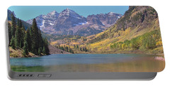 Early Autumn At The Bells Portable Battery Charger by Margaret Bobb