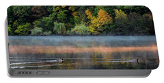 Early Autumn Morning At Longfellow Pond Portable Battery Charger